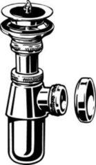 "Viega plugbekersifon, messing, chroom, 1.1/2"" x 40mm, wasbak/gootsteen"