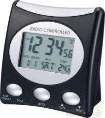 Zwarte Technoline Radio gestuurde wekker - Digitaal - Datum en Temperatuurweergave - WT 221