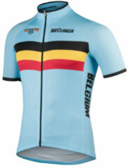 Bioracer - Belgium Bodyfit Short Sleeve Jersey 2.0 - Fietsshirt maat XXL, grijs