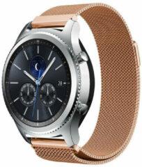 Roze Smartwatchbandje - Geschikt voor Samsung Gear S3 Milanese band - rosé goud - 46mm