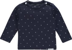Marineblauwe Noppies B Tee ls Collin - Navy - Maat 56