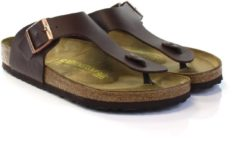 Bruine Birkenstock Men's Ramses Toe Post Sandals - Dark Brown - EU 41/UK 7.5 - Brown