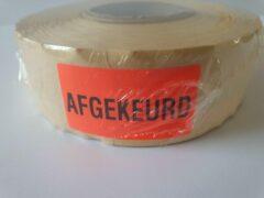 """Merkloos / Sans marque Sticker met """"Afgekeurd"""" erop - Formaat: 40 x 20 mm - Materiaal: rood radiant"""