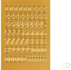Huismerk Herma 4184 Etiket met getallen 12mm 0-9 Goud