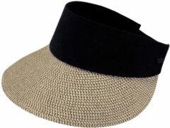 Barts - Women's Vesder Visor - Hoed maat One Size, zwart/beige/grijs