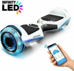 Witte 6,5 inch premium hoverboard Bluewheel HX360 - Duits kwaliteitsmerk - veiligheidsmodus voor kinderen - infinity LED-wielen & app