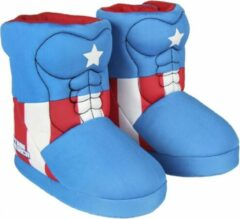 Marvel Captain America - Hoge Sloffen - Blauw