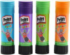Discountershop Pritt gekleurde lijmstick - lijmstift - lijmstiften - 4X