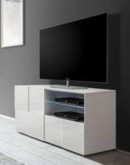 TV-Unterschrank in weiss Hochglanz lackiert 3D Optik Classico Z-Dama