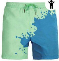 Seasons Blauw - Groen | Kleurveranderende zwembroek