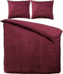 Velvet Couture Velvet Dekbedovertrek - Rood - Lits Jumeaux - 240 x 200/220 cm