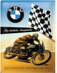 Nostalgic Art Merchandising BMW Das Schnellste Motorrad der Welt Metalen wandbord in reliëf 30x40 cm