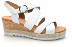 96350_3800 Gabor Dames Sandaletten - Wit - Maat 40