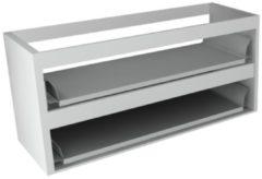 Sub 16 wastafelonderkast met 2 lades zonder fronten 120 x 52 cm, hoogglans wit