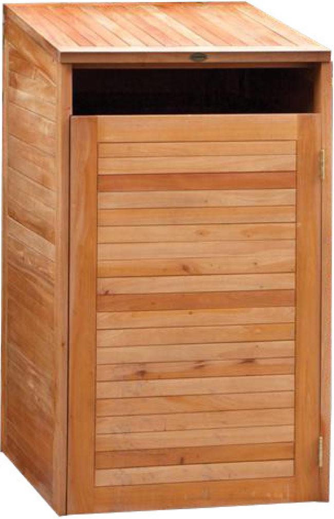 Afbeelding van Containerberging Enkel Tuindeco hardhout 75 x 75 x 135 cm