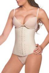 Huidskleurige Ann Chery Waist Trainer 3-Hooks - 100 % Natuur Latex - Made in Colombia - Nude - Maat M (kledingmaat 36/38)