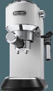 Afbeelding van DeLonghi Dedica Style EC 685.W Vrijstaand Half automatisch Espressomachine 1.1l Zwart, Zilver, Wit