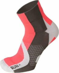Mico Extralight weight professional woman running socks wit roze L