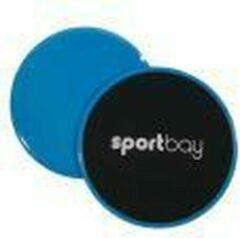 Blauwe Sportbay Core Sliders set - Stabiliteits kussens - sliding pads - Sliding Discs - core trainer - Buikspier trainer - inclusive handleiding