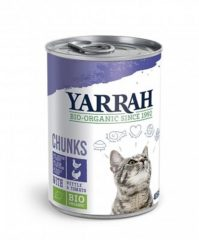 Yarrah - Natvoer Kat Blik Chunks met Kip & Kalkoen Bio - 12 x 405 g