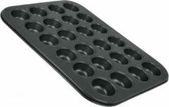 Zwarte Tomado - Metaltex Metaltex By Tomado Bakvorm Geschikt voor 24 Gebakjes | 4.5 cm