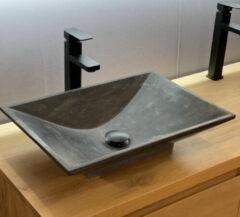 B-Stone Rosie rechthoekige waskom 50x36x12cm natuursteen