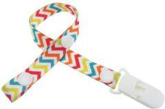 Witte JillyBee - Speenkoord - Speen - Koord - Wit - Multicolor - Zigzag