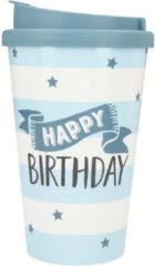 Depesche Drinkbeker To-Go Happy Birthday Stars