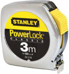 Stanley meetlint PowerLock, mylar. coating, (lxb) 3mx12.7mm, beh met
