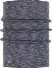 Licht-grijze Buff Heavyweight Merino Wool Fog Grey Multi-Stripes Lichtgrijs Mengeling