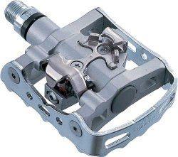 Afbeelding van Grijze Shimano Klikpedaal MTB SPD PD M324 9/16 Inch Grijs Set