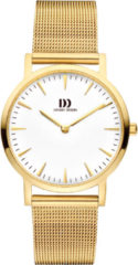 Gouden Danish Design watches edelstalen dameshorloge London White Gold Medium Mesh IV05Q1235
