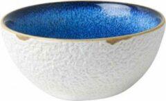 Zwarte Heinen Delfts Blauw bloesem yoghurtschaaltje blauw