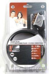Velleman Scart Plug To 4 X Rca Audio Plug 2 X Rca Video Plug / Professional / 1.5m