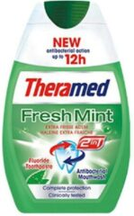 Theramed 2in1 Fresh Mint Tandpasta 75 ml - 12 stuks - Vordeelverpakking