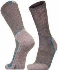 2-Pack UphillSport Coolmax Wandelsokken voor droge voeten 8385.255 - grijs/blauw - Unisex - Maat 43-46