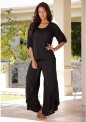 Zwarte LASCANA Pyjama in laagjes-look