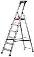 Grijze Altrex Double Decker 6 treeds - Huishoudtrap - Werkhoogte 3.25m