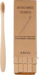 Merkloos / Sans marque Bamboe tandenborstel (zacht) | 4 stuks |Natural Bamboo | Gratis verzending | Bamboo tandenborstel | 100% BPA-vrij | natuurlijk afbreekbaar | Bruin