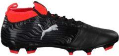 Fußballschuh One 18.3 FG 104538-01 mit Spandex-Socke Puma Puma Black-Puma Silver-Red Blast