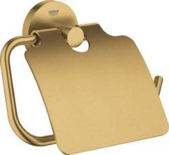 GROHE Essentials Toiletrolhouder - met deksel - cool sunrise geborsteld (mat goud) - 40367GN1