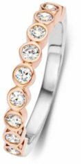 Roze Velini jewels -R6251R-50 -Ring -925 Zilver rosé -Cubic Zirkonia