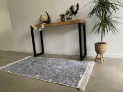 EB Commerce Loper/Vloerkleed - Marmer Look Grijs 80x150 - Antislip en Easyclean