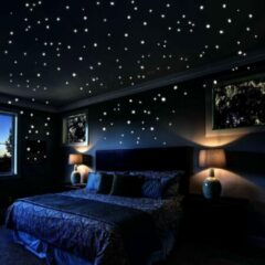 Transparante Heble Glow In The Dark muurstickers / Kinderkamer / plafond en wand decoratie / sterrenhemel / stippen - DisQounts