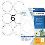 Verwijderbare etiketten Herma 5068 A4 Ø 85 mm rond wit Movables/verwijderbaar papier mat 150 st.