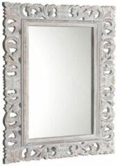 Sapho Scule barok spiegel met witte omlijsting 70x100cm