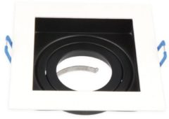 Led-line LED Line Inbouwspot - Vierkant - Kantelbaar - Aluminium - GU5.3 Fitting - Zwart/Wit - Mat