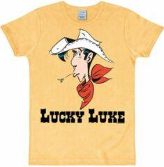 Gele Logoshirt Heren T-shirt Maat XL