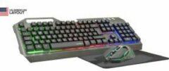 Zwarte Speedlink Tyalo Illuminated Gaming Bundel - Qwerty Gaming Toetsenbord/Muis/Muismat