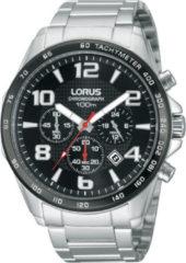 Zilveren Lorus RT351CX9 - Horloge - 44 mm - Zwarte Wijzerplaat - Zilverkleurig